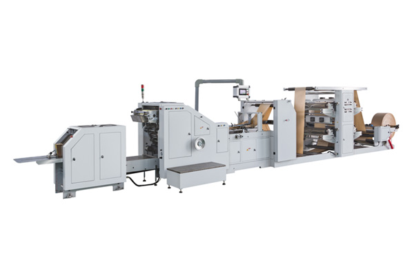 LSB-200+LST-4700 Roll Feeding Square Bottom Paper Bag Making Machine With Flexo Printing Machine